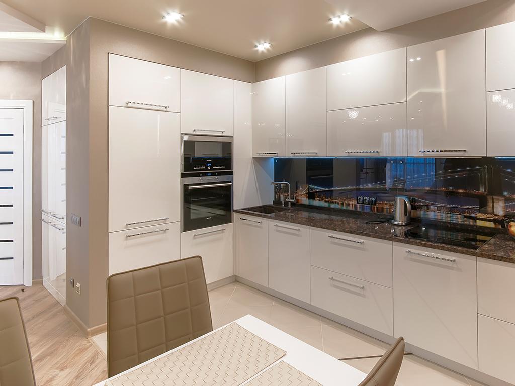 Светлые глянцевые кухни фото отзывы киев